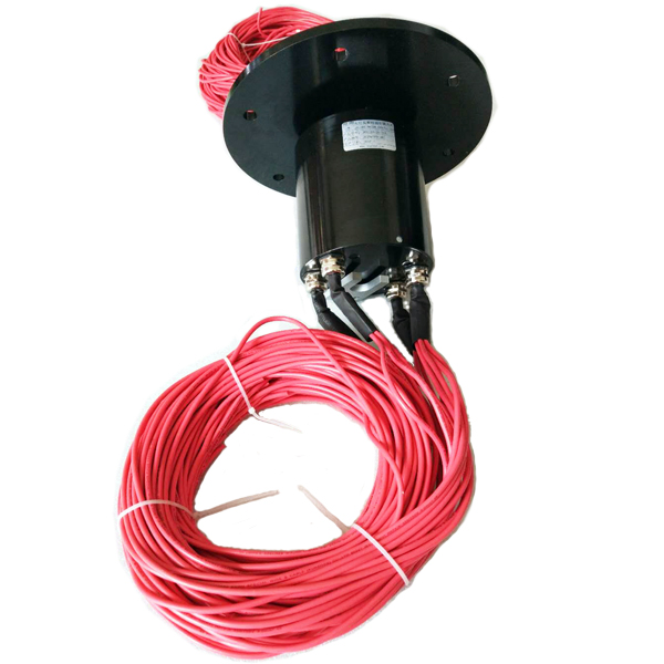 Flange slip ring for large scale packing machines